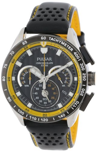 Pulsar Men's PU2007 Stainless Steel Watch with Leather Band
