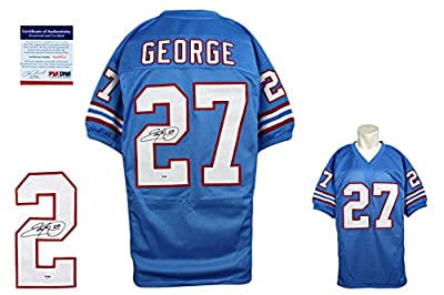 Eddie George Signed Jersey - PSA/DNA - Tennessee Titans Autographed
