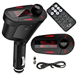 Alria Car MP3 Player FM Transmitter Modulator-LCD, USB, SD, MMC with Remote (Red Colour Display) - Best Reviews Guide