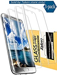Taken Samsung Galaxy S7 Edge Screen Protector [3-Pack] - HD Ultra Clear Film - Anti-Bubble Edge to Edge