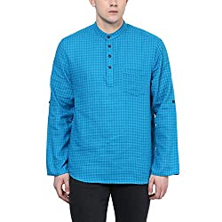 Indus Route by Pantaloons Men's Solid Party Kurta (205000005577576_Size_Small)