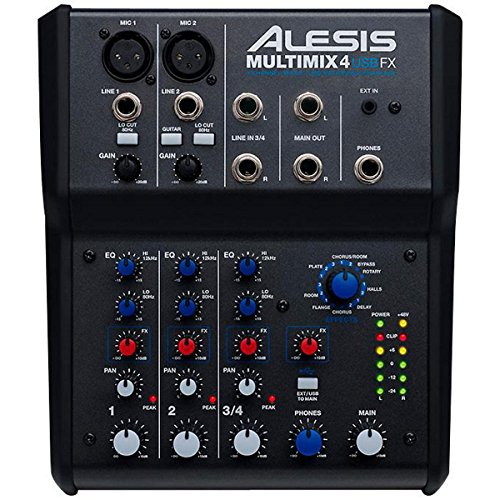 Great Deal! Alesis Multimix 4 USB FX 4-Channel Mixer with Effects Plus USB Audio Interface