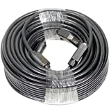 CableVantage 100 FT 30M VGA HD15 SUPER VGA Male to Male M/M MONITOR/LCD VGA CABLE Cord Black For TV PC Computer Monitor