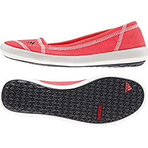 adidas Outdoor Slip-On Boat Sleek Shoe - Women's Flash Red/Dark Grey/Chalk White 12