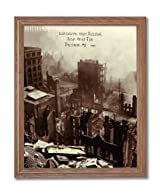 Continental Trust Building After Fire Baltimore Maryland 1904 Photo Wall Picture Oak Framed Art Print