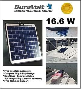 16w solar panel charger with duravolt technology 16 6 watt 12v duravolt plug play. Black Bedroom Furniture Sets. Home Design Ideas