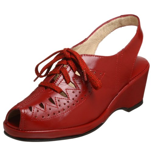 Re-Mix Vintage Women&#039;s Greta Lace-Up Wedge - Free Overnight Shipping &amp; Return Shipping: Endless.com from endless.com