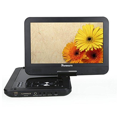 NAVISKAUTO-101-Zoll-DVD-Player-Kopfsttzenmonitor-Monitor-5-Stunden-Abspielzeit-mit-Kopfsttzenhalterung-drehbarem-Display-Batterie-untersttzt-SDUSB-AV-INOUT-DVD-Memory
