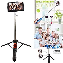 Bluetooth Selfie Stick with Tripod Stand, DMG Selfie Stick for Gopro, Cameras and Cellphones with Bluetooth Camera Remote