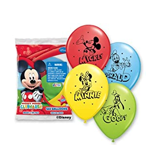 "Pioneer National Latex Mickey and Pals 6 Count 12"" Latex Balloons, Assorted by Pioneer National Latex"