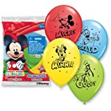 """Pioneer National Latex Mickey and Pals 6 Count 12"""" Latex Balloons, Assorted"""