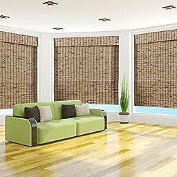 Tropical Rustic Bamboo Roman Shade - Free Shipping, 58x74