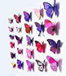 12pcs 3D Art Butterfly Decal Wall Sti...