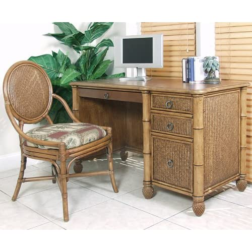 Oyster Bay Wicker Computer Desk by Hospitality Rattan