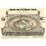 Map of the Square and Stationary Earth. Four Hundred Passages in the Bible That Condemn the Globe Theory or the Flying Earth, and None Sustain It. This Map Is the Bible Map of the World. By Orlando Ferguson Reproduction. 16.5 X 24 Inches