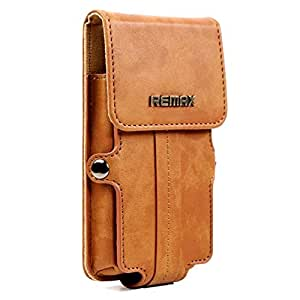 Brain Freezer Remax Pedestrian Series Leather Pouch Holster Case For Philips X331 Brown