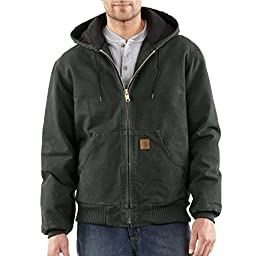 Carhartt Men's Big & Tall Quilted Flannel Lined Sandstone Active Jacket J130,Moss,Large Tall