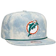 Miami Dolphins NFL Lite Acid Wash Denim Snapback Cap by Mitchell & Ness