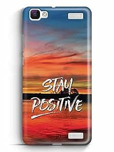 YuBingo Stay Positive Designer Mobile Case Back Cover for Vivo V1 Max