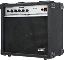 Soundking  AK20-BA - Amplificador eléctrico (20 W RMS, 8 pulgadas, control de volumen, salida de auriculares), color negro
