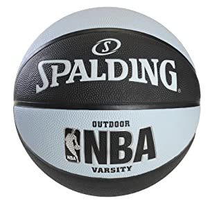 Spalding NBA Varsity Outdoor Rubber Basketball- Black/Blue - Official Size 7 (29.5