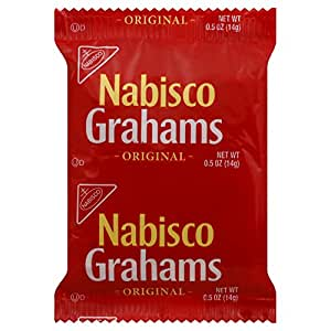 Nabisco Graham Crackers (2 -Count), 0.5-Ounce Individually Wrapped Packages (Pack of 200)
