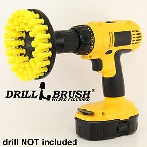 Yellow Drill Brush Carpet Brush with Medium Stiffness Bristles