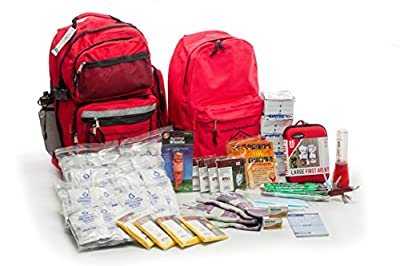 Tactical First Aid Kit: 4 Person Premium Disaster Preparedness Kit (72 Hours of Supplies) from First My Family