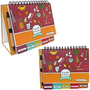 Cahier chevalet vierge recettes de cuisine format a5 120 for Cahier de cuisine vierge