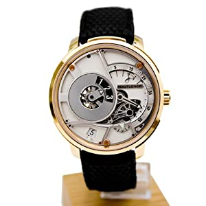 Hautlence HLQ HLQ05 43.8 Automatic 18K Gold Case Black Leather Anti-Reflective Sapphire Men's Watch