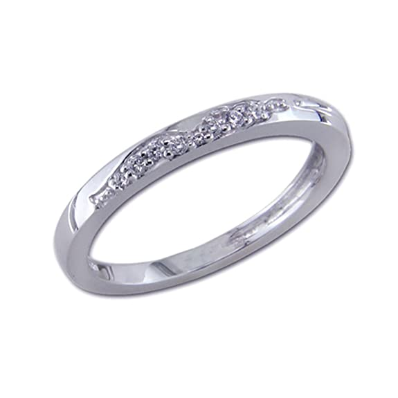 White Gold Diamond Ring with 8 Diamonds 585 Posh in Tot in 07ct Size 54 Brilliants 0, Approx