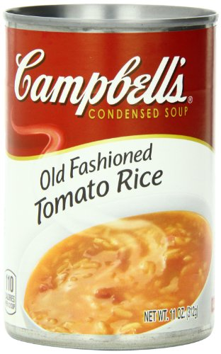 Campbell's Condensed Soup, Old Fashioned Tomato Rice, 11 Ounce (Pack of 12)