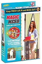 Allstar Marketing Group MM011124 Magic Mesh Hands-Free Screen Door, As Seen on TV - Quantity 6