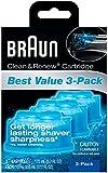 Braun Clean & Renew Refills 3-pack,170ml(5.7 Fl Oz)each-Total 510ml(17.1 Fl Oz)