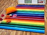 Lifestyle Kinderteppich Rainbow Bunt in 5 Größen !!! Sofort Lieferbar