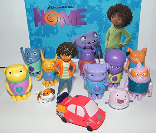 dreamworks-home-mini-figure-toy-play-set-of-13-with-tip-oh-kyle-captain-smek-pig-a-cool-car-baby-boo