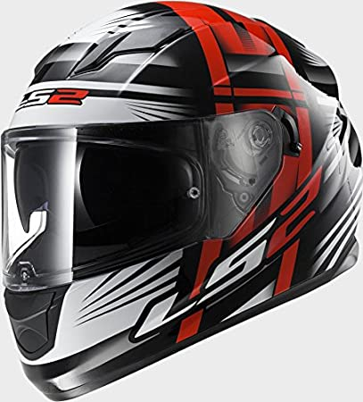 LS2 FF320 Stream Bang Black Red Motorcycle Helmet