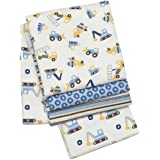 Carter's Child Of Mine 4 My Mom Digs Me Baby Receiving Blanket Set Construction Rigs Stripe Boy Blankets