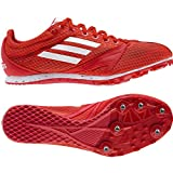 ADIDAS Arriba 3 Ladies Running Spikes, Red/Yellow, UK4