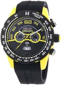Nautec No Limit Herren-Armbanduhr XL Zero-Yon 2 Chronograph Quarz Kautschuk ZY2-H2 QZ/RBPCBKBK-YL