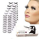 Bella Hair Different 6 Styles Natural Thick Soft Fake Eyelashes for Party and Daily Use (60 Pairs)