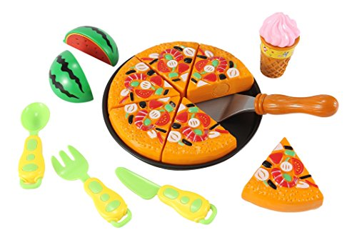 Kitchen Fun Pizza Party for Kids with Watermelon, Ice Cream, and Utensils (Pizza Ice Cream compare prices)