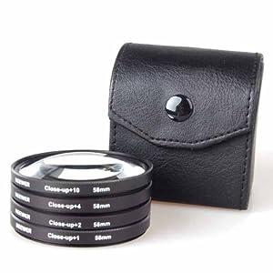 Neewer 58Mm 4Pc Macro Close-Up Lens Set For Canon 350D 450D 500D 1000D