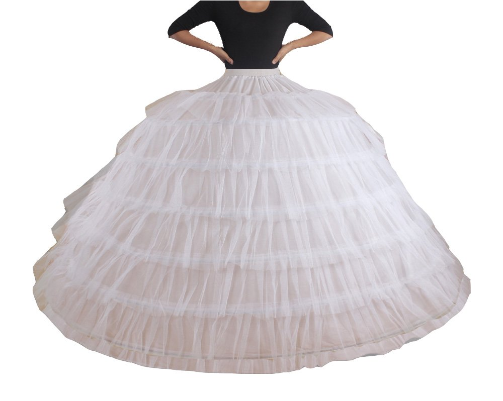 XYX FRAUEN Hochzeitspetticoat 7 HOOP underskirt Slip Krinoline günstig kaufen