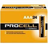 Procell Alkaline Batteries, AAA, 24/Box