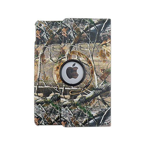 Camo Tree Camouflage Woods Design Autumn Mossy Oak Leather 360 Rotating Case Cover for Apple Ipad Air 2 Ipad 6 Retina Tablet Auto Sleep wake Function