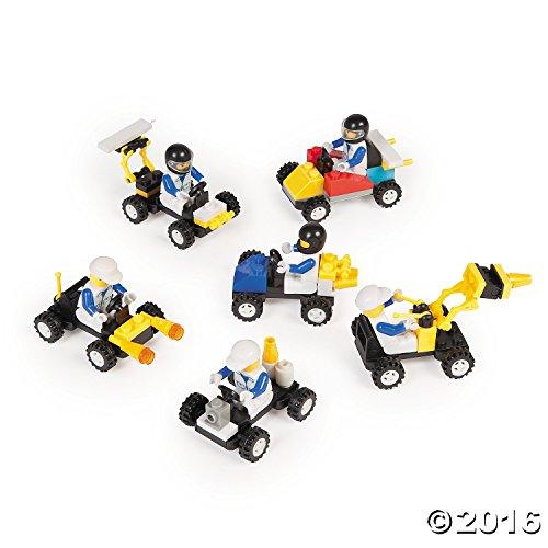 12 Mini Building Block Vehicle Set + Bonus Gift Boutique Balloon (Building Vehicles compare prices)
