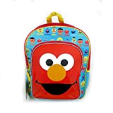 Sesame Street Elmo Backpack - Red and Blue with Yellow Trim
