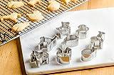 StarPack Premium Mini Animal Cookie Cutters including Goldfish Cookie Cutter - Bonus 101 Cooking Tips
