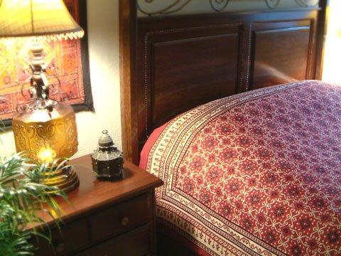 Ruby Kilim ~ Rustic Red Black Luxury Designer King Bedspread 108X90 front-406983